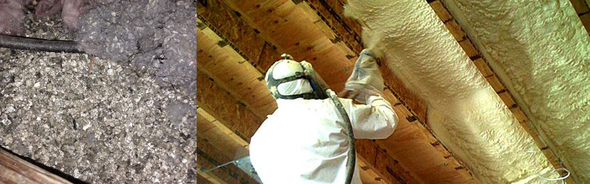 vermiculite insulation | spray foam